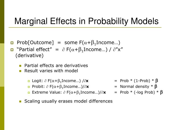 Marginal Effects in Probability Models