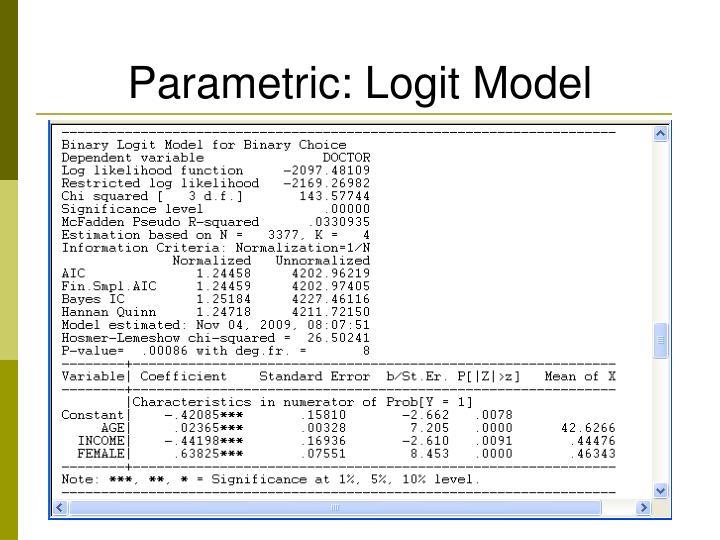 Parametric: Logit Model