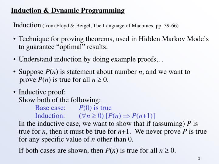 Induction & Dynamic Programming