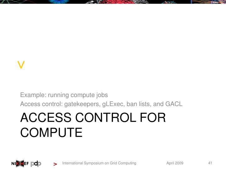 Example: running compute jobs