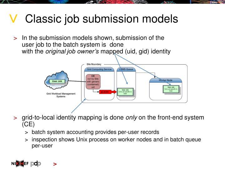 Classic job submission models