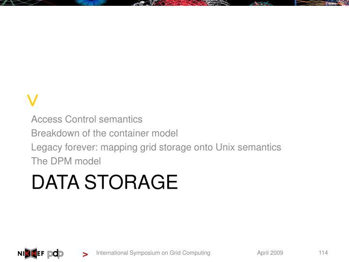 Access Control semantics
