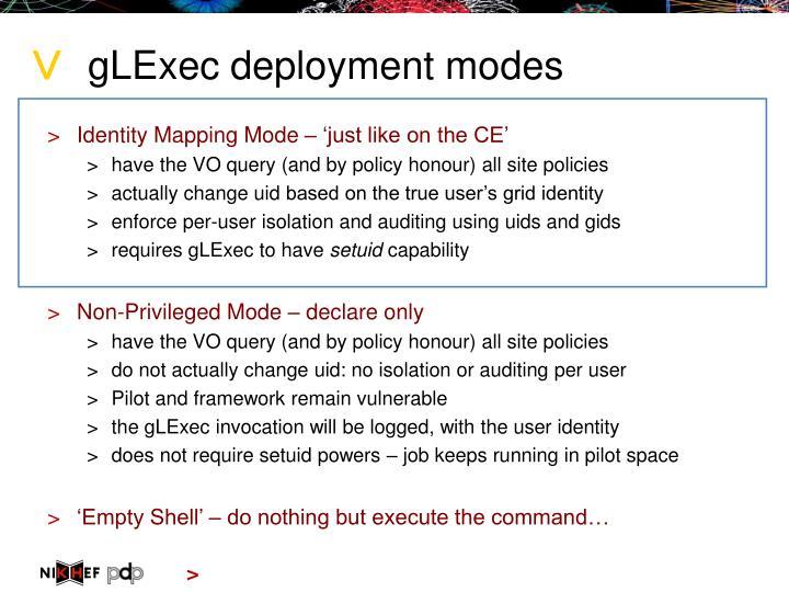 gLExec deployment modes