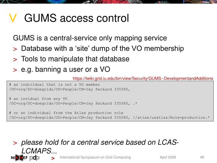 GUMS access control
