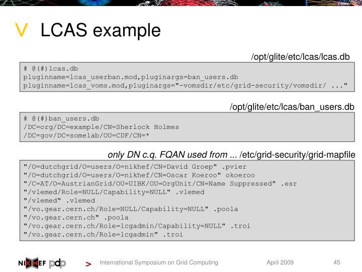LCAS example