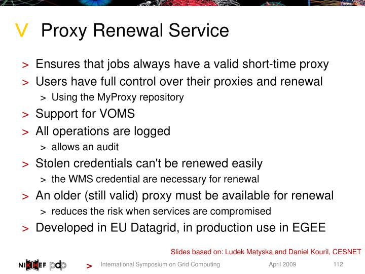 Proxy Renewal Service