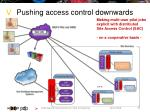 pushing access control downwards