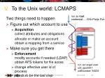 to the unix world lcmaps