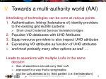 towards a multi authority world aai