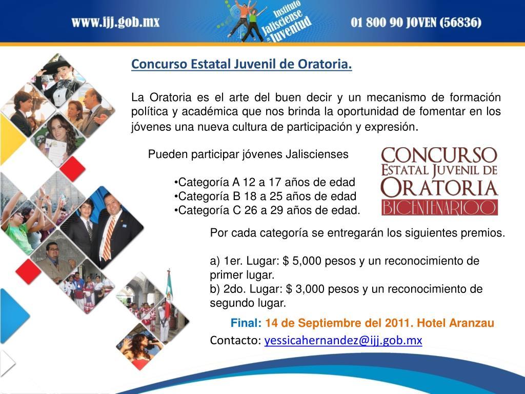 Concurso Estatal Juvenil de Oratoria.