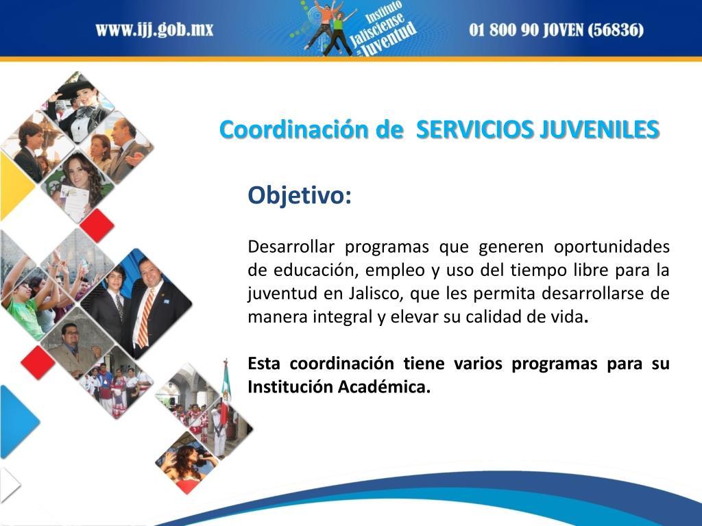Coordinación de  SERVICIOS JUVENILES