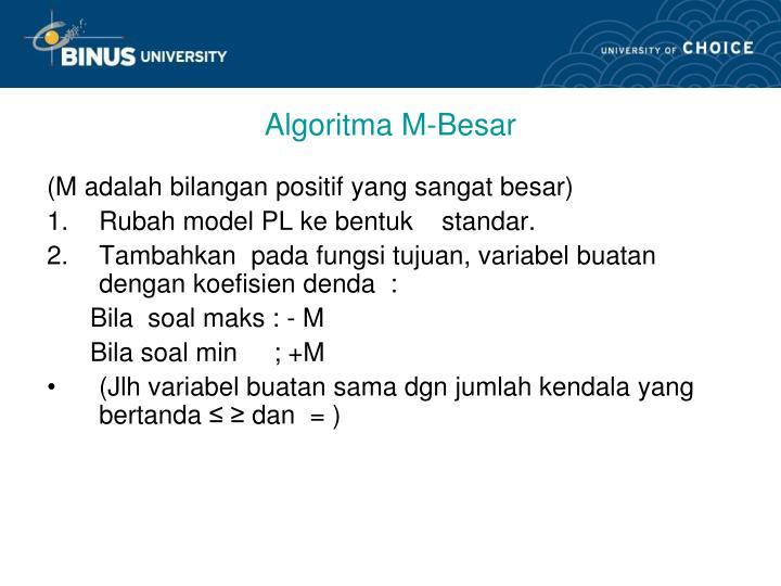 Algoritma M-Besar