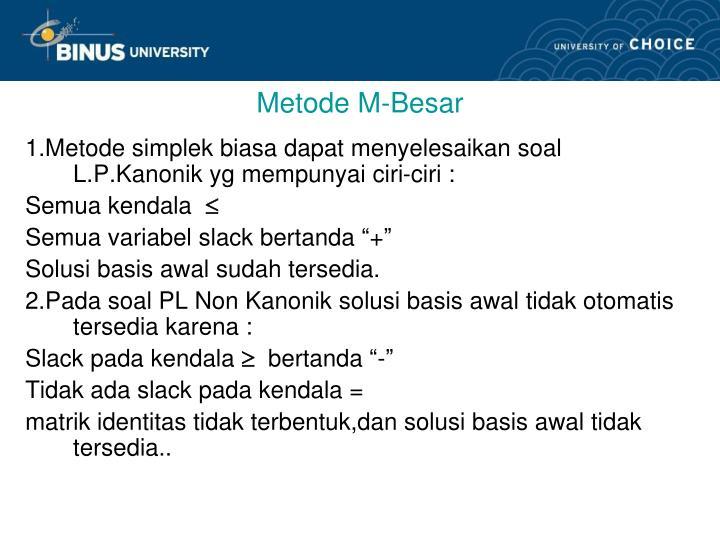 Metode M-Besar