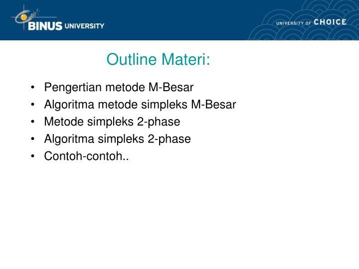 Outline Materi: