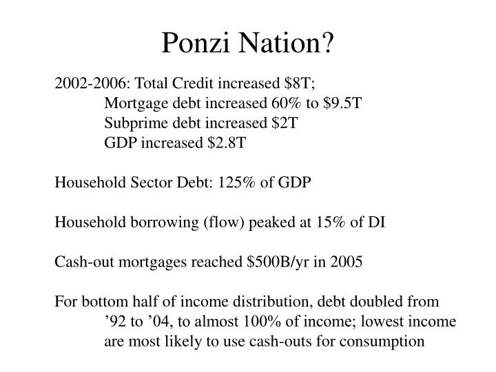 Ponzi Nation?
