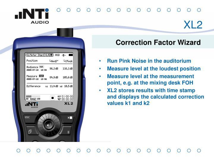 Correction Factor Wizard