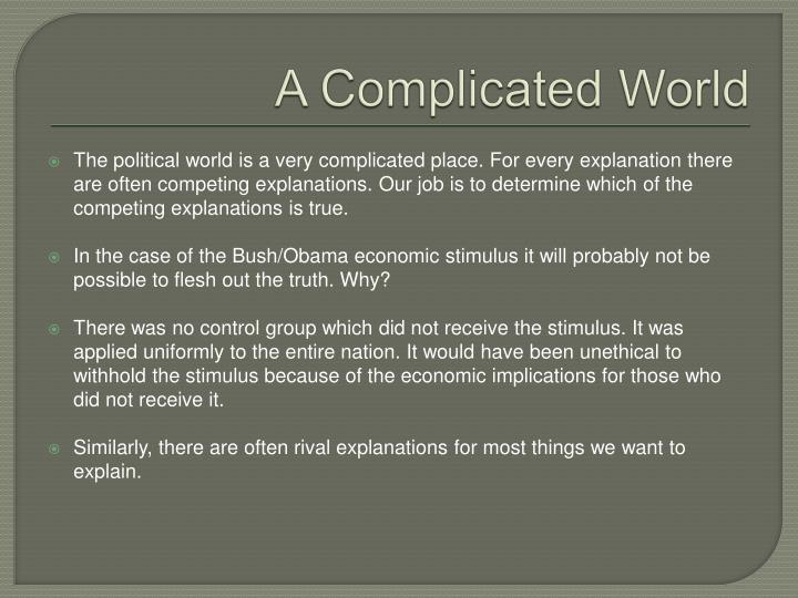 A Complicated World