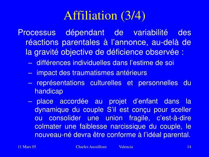 Affiliation (3/4)
