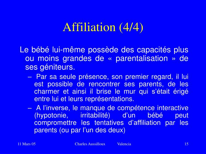 Affiliation (4/4)