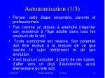 autonomisation 1 3