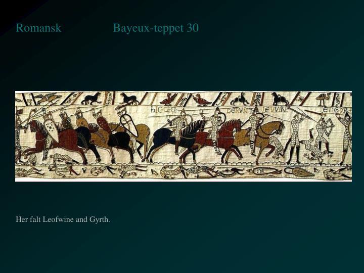 Bayeux-teppet 30