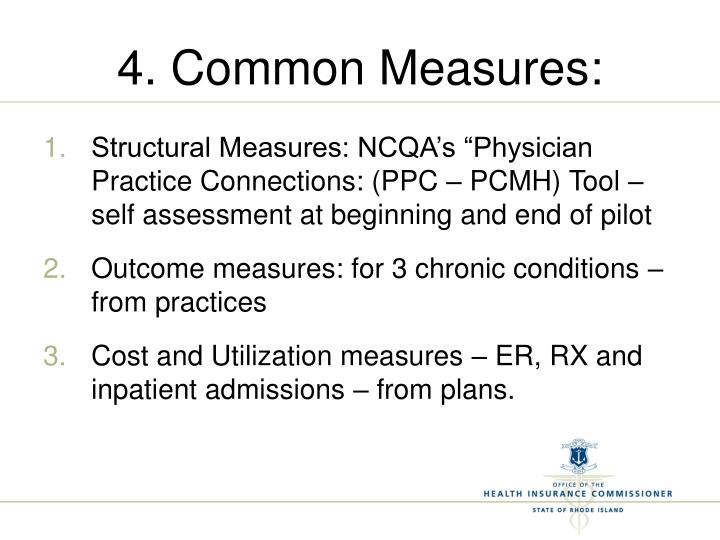 4. Common Measures: