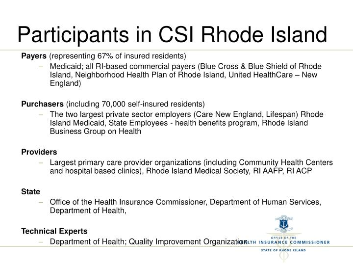 Participants in CSI Rhode Island