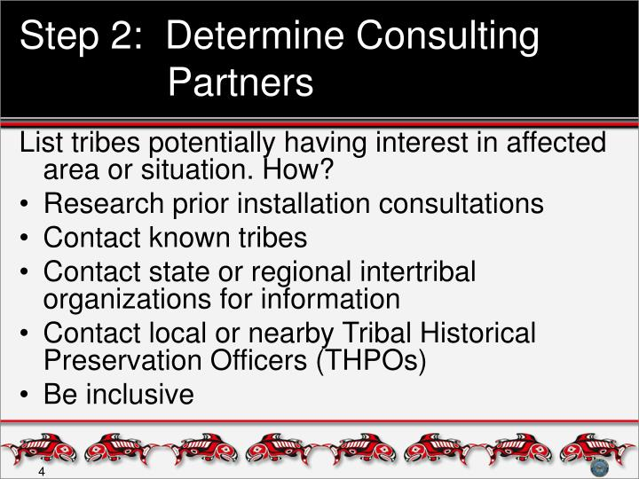 Step 2:  Determine Consulting Partners
