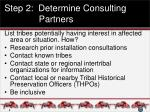 step 2 determine consulting partners