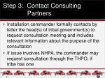 step 3 contact consulting partners