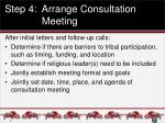 step 4 arrange consultation meeting