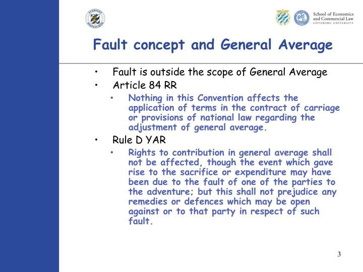 Fault concept and general average