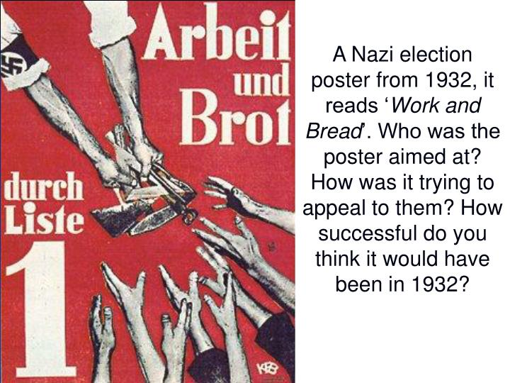 A Nazi election poster from 1932, it reads '