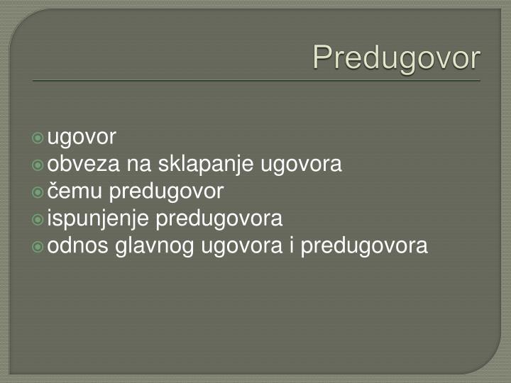 Predugovor