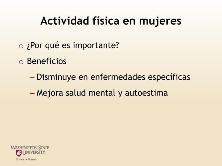 Actividad física en mujeres
