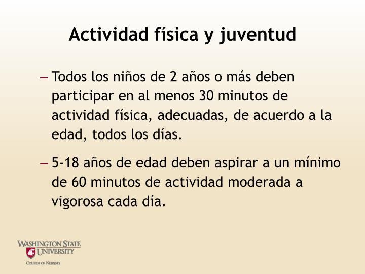 Actividad física y juventud