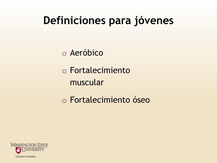 Definiciones para jóvenes