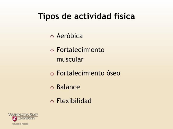 Tipos de actividad física
