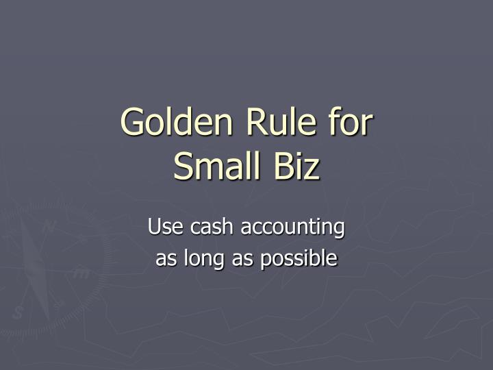 Golden Rule for
