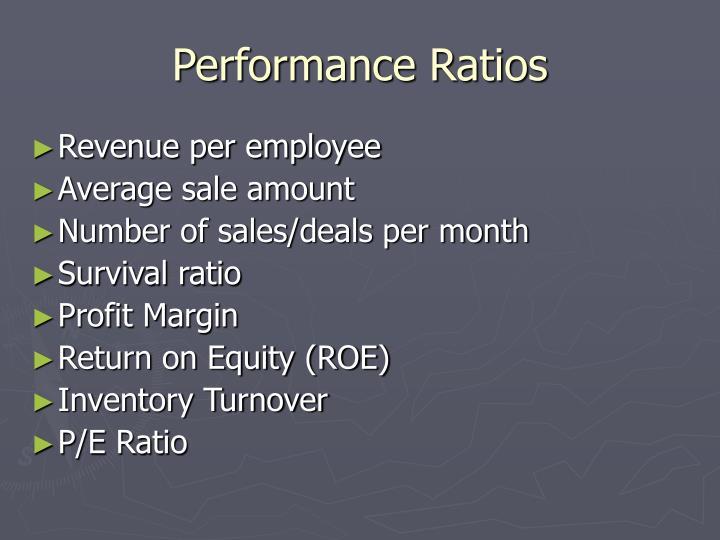 Performance Ratios