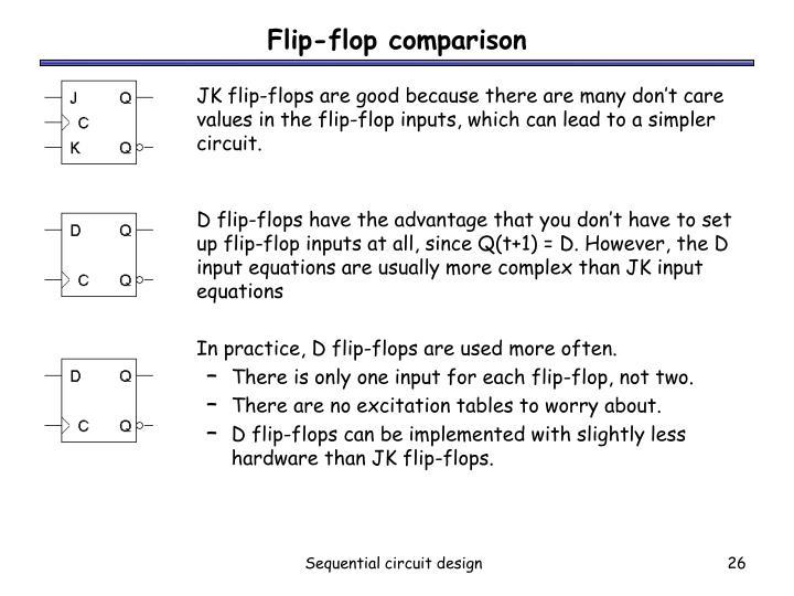 Flip-flop comparison