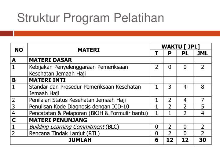 Struktur Program Pelatihan