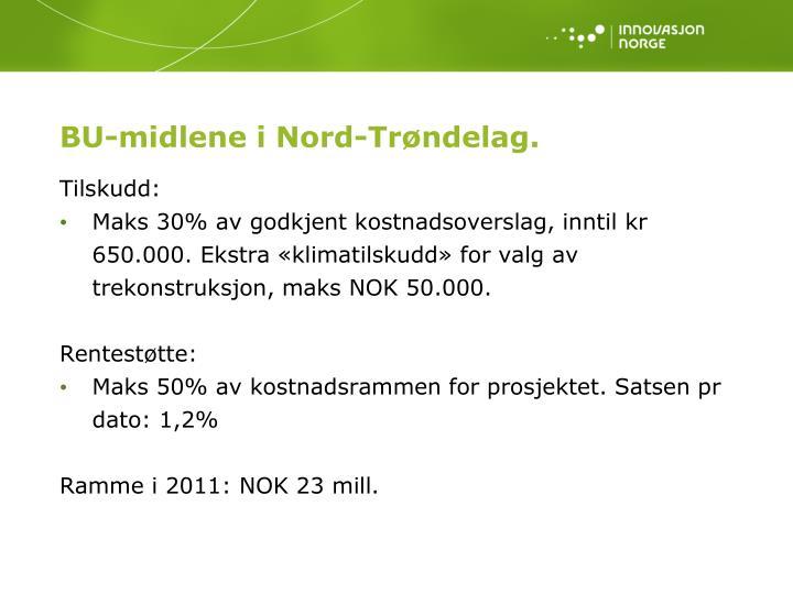 BU-midlene i Nord-Trøndelag.