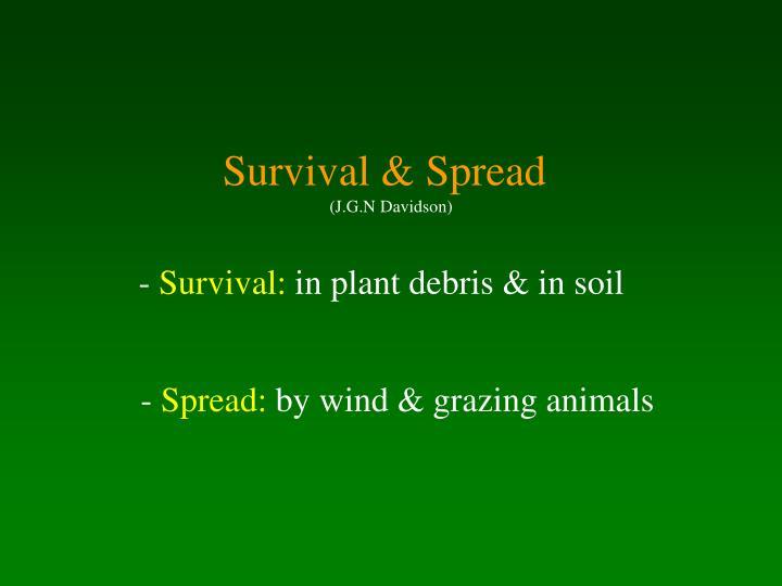 Survival & Spread