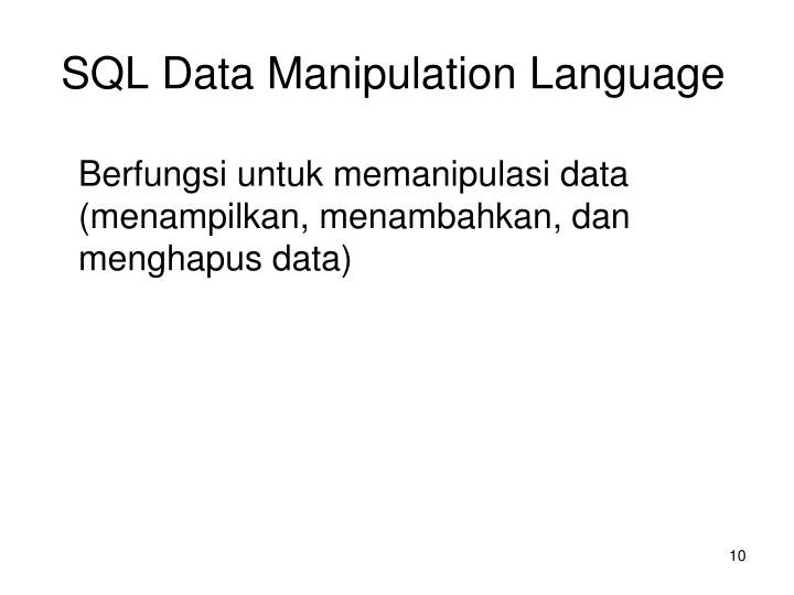 SQL Data Manipulation Language