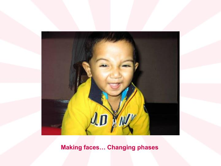 Making faces… Changing phases