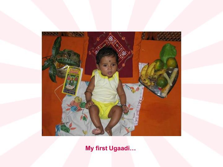 My first Ugaadi…