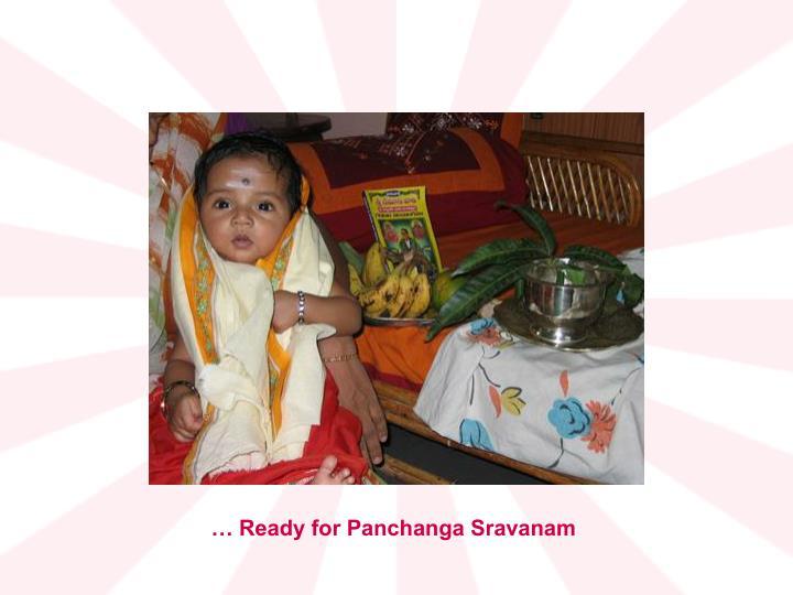 … Ready for Panchanga Sravanam