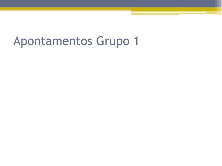 Apontamentos Grupo 1