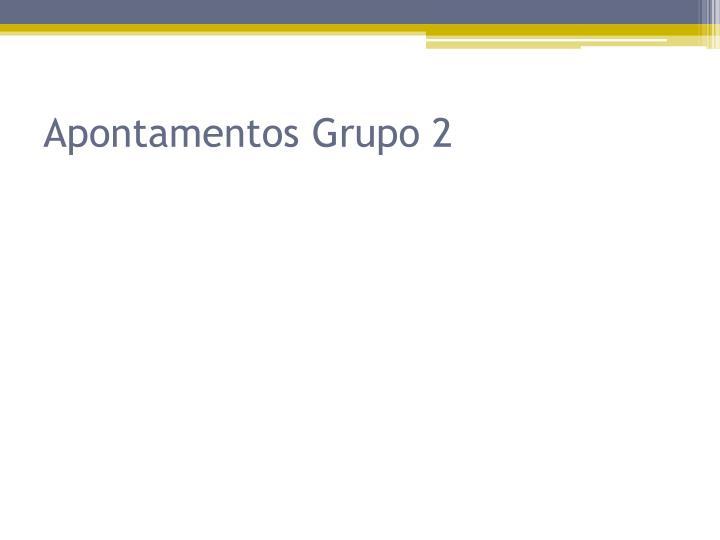 Apontamentos Grupo 2